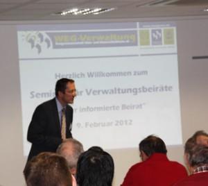 Seminar Verwaltungsbeiräte 2012